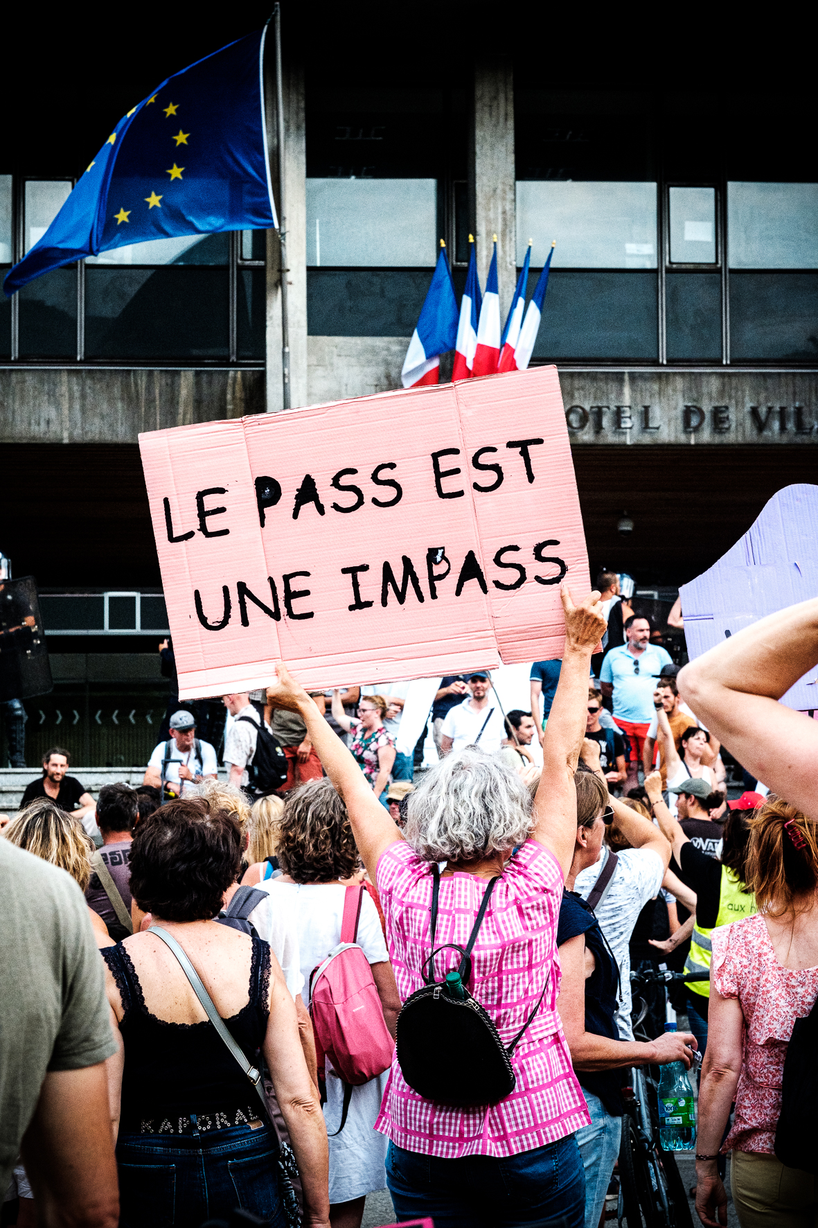Samedi 24 juillet 2021, Grenoble, manifestation anti pass sanitaire